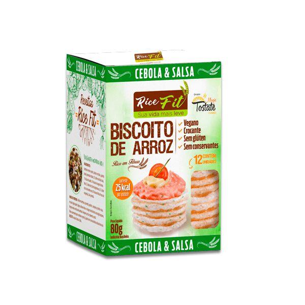 Biscoito de Arroz Cebola e Salsa Rice Fit 80g