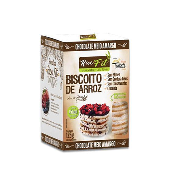 Biscoito de Arroz Coberto com Chocolate Meio Amargo Rice Fit 125g