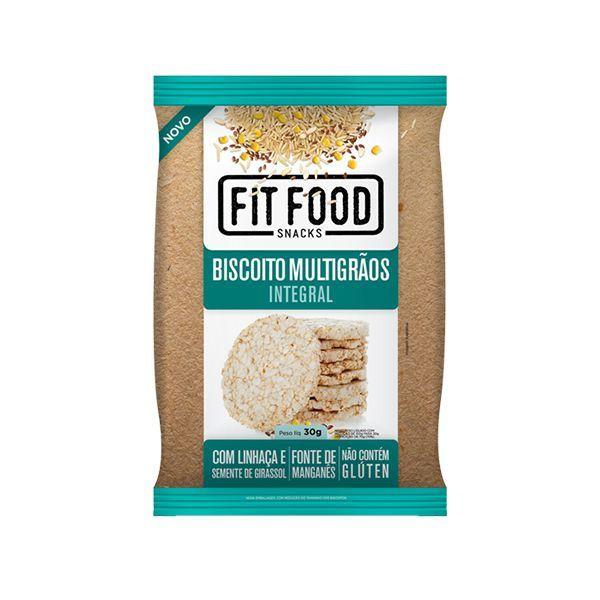 Biscoito De Arroz Com Linhaça E Semente De Girassol Multigrãos Integral Fitfood 30g