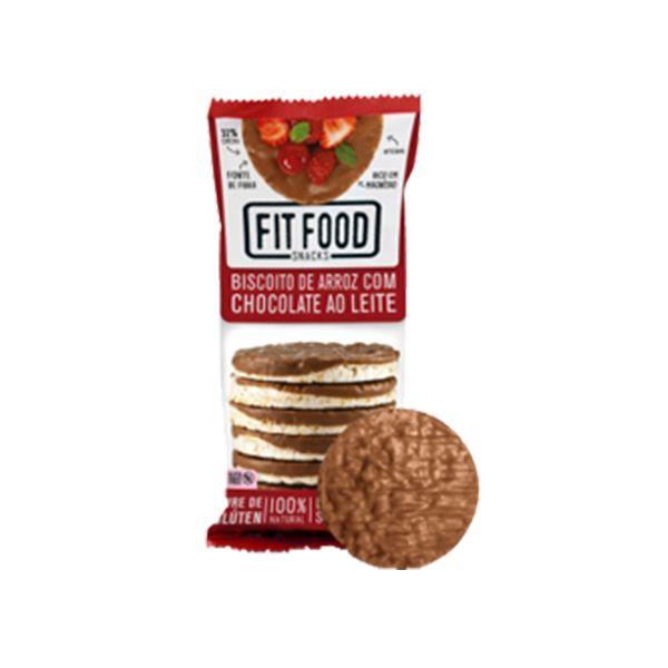 Biscoito De Arroz Fitfood Coberto Com Chocolate Ao Leite Sem Glúten 70g