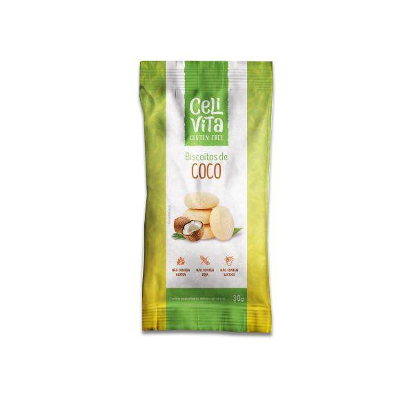 Biscoito de Coco CeliVita Gluten Free 30g