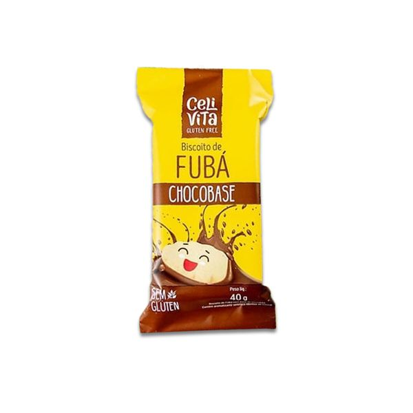 Biscoito de Fubá Chocobase Sem Gluten CeliVita Gluten Free 40g