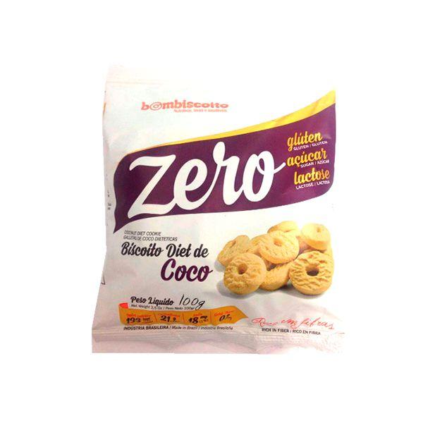 Biscoito Diet Sabor Coco Bombiscoito Zero Glúten E Zero Lactose 100g