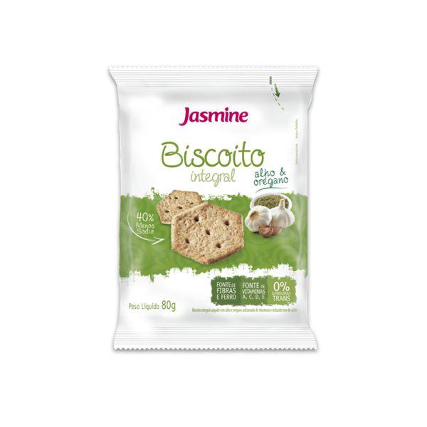 Biscoito Integral Alho e Orégano Jasmine 80g