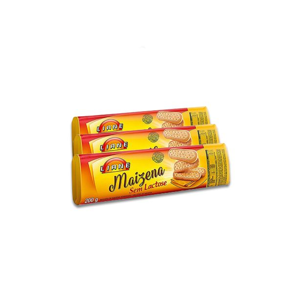 Biscoito Liane de Maizena 3 un de 200g cada