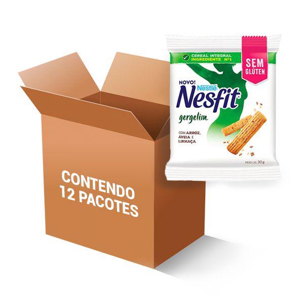 Biscoito Nesfit Sem Glúten Gergelim Nestle Contendo 12 Pacotes