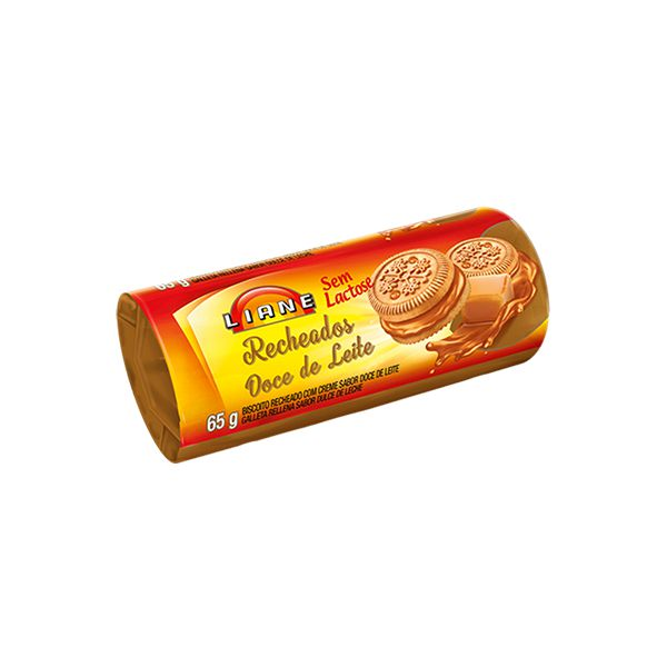 Biscoito Recheado Doce De Leite Sem Lactose Liane 65g