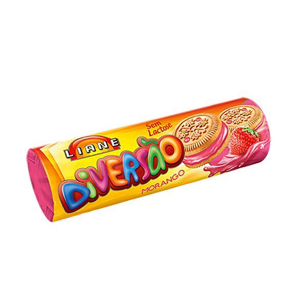 Biscoito Recheado Morango Sem Lactose Liane 115g