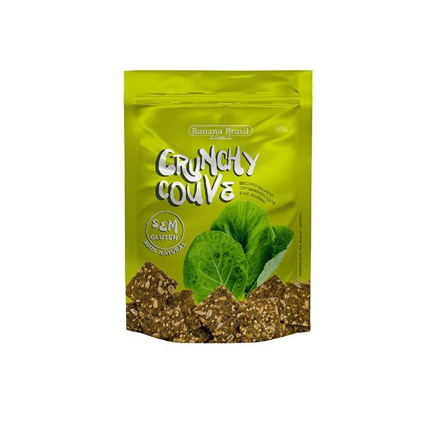 Biscoito Salgado Crunchy Couve Banana Brasil 50g