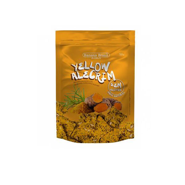 Biscoito Salgado Yellow Alecrim Banana Brasil 50g