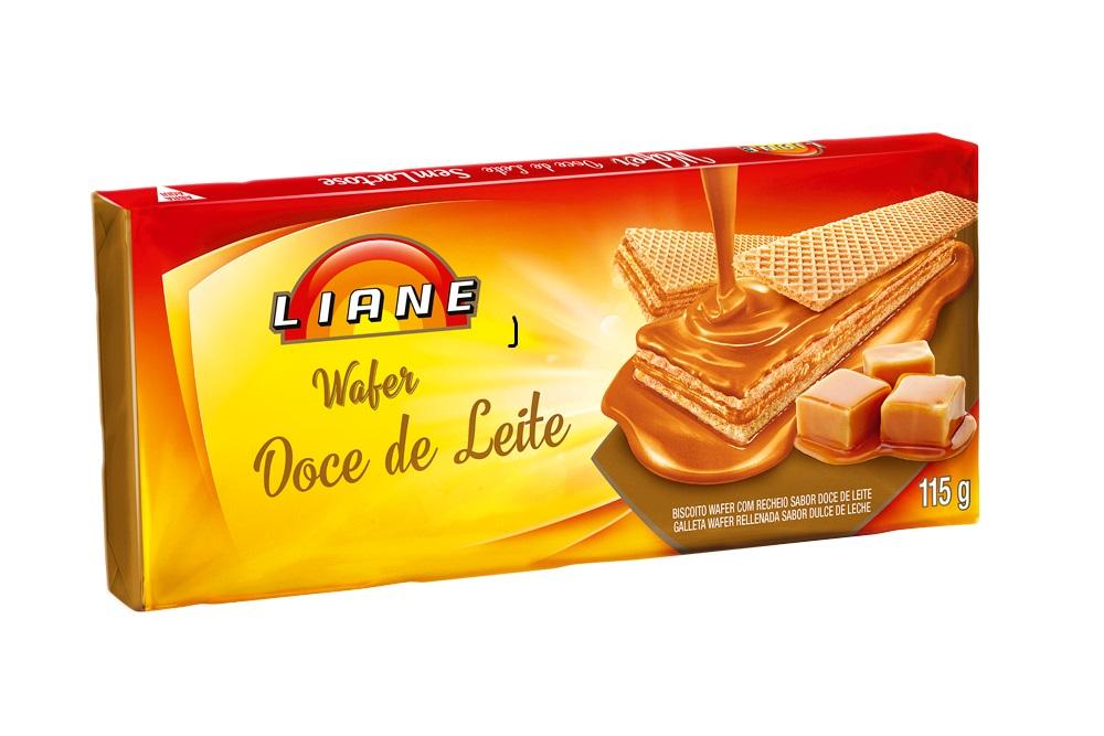 Biscoito Wafer Doce De Leite Sem Lactose Liane 115g