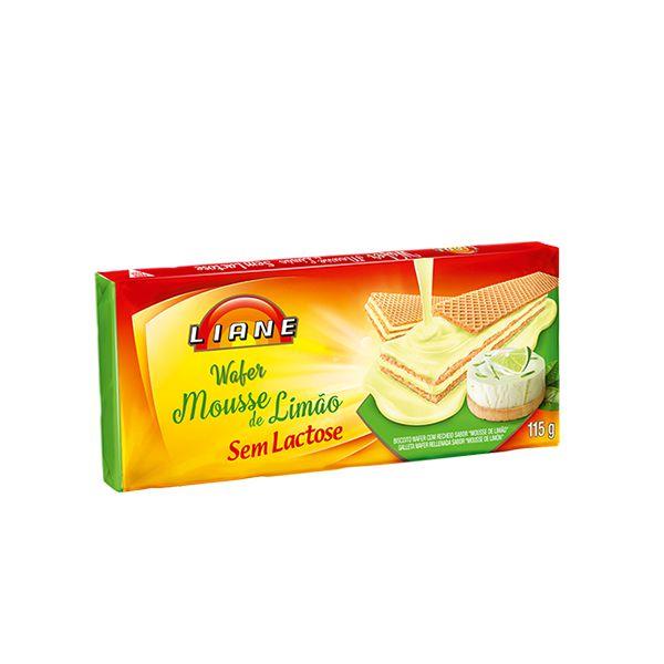 Biscoito Wafer Mousse De Limão Sem Lactose Liane 115g