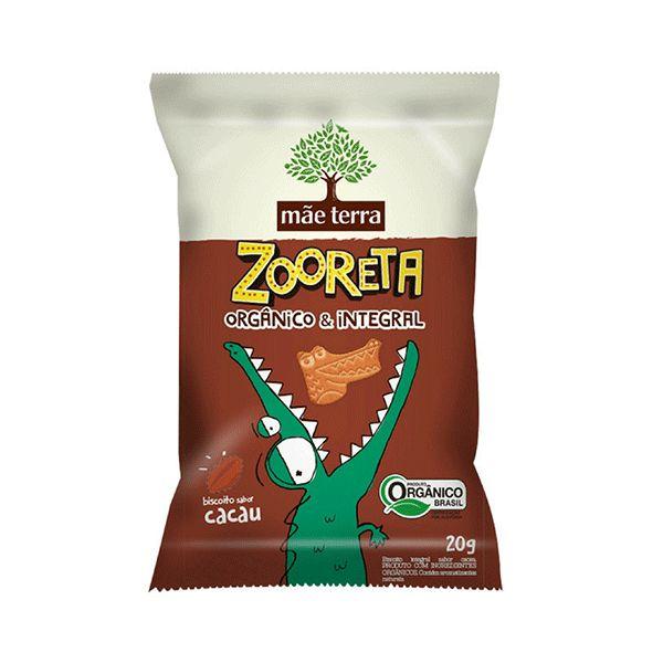 Biscoito Zooreta Orgânico E Integral Mãe Terra Cacau Contendo 20g