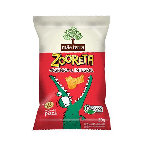 Biscoito Zooreta Orgânico E Integral Mãe Terra Pizza Contendo 20g