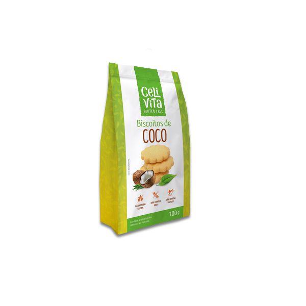 Biscoitos de Coco Sem Gluten CeliVita 100g