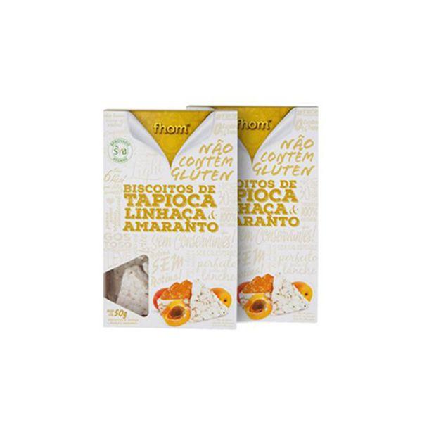 Biscoitos De Tapioca, Linhaça E Amaranto Fhom 50g
