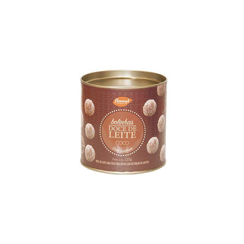 Bolinhas De Doce De Leite E Coco Zero Lactose Flormel Pote Com 120g
