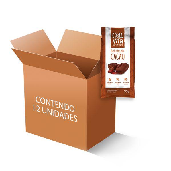 Bolinho de cacau sem gluten e sem lactose CeliVita Gluten Free contendo 12 unidades de 35g cada
