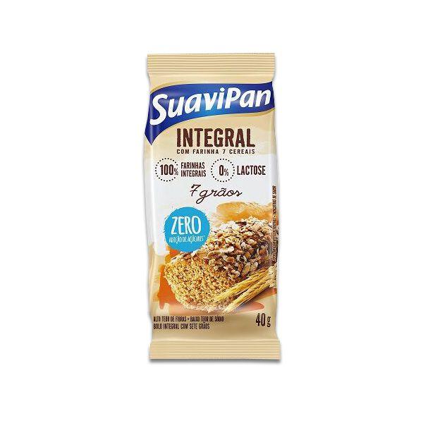 Bolinho Integral Zero Açúcar 7 Grãos Suavipan Unidade de 40g
