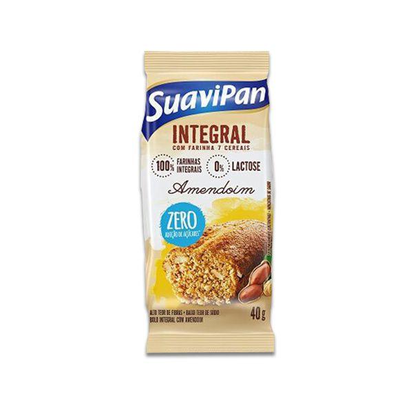 Bolinho Integral Zero Açúcar Amendoim Suavipan Unidade de 40g