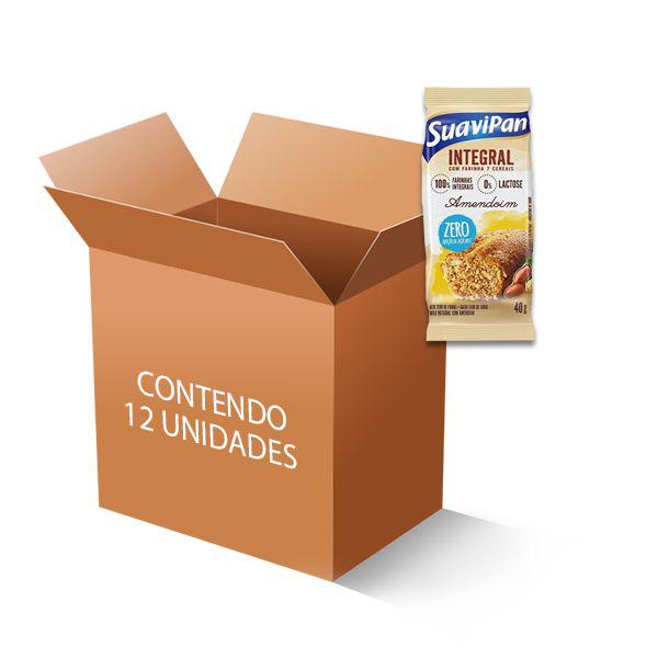 Bolinho Integral Zero Açúcar Amendoim Suavipan Contendo 12 Bolinho De 40g Cada
