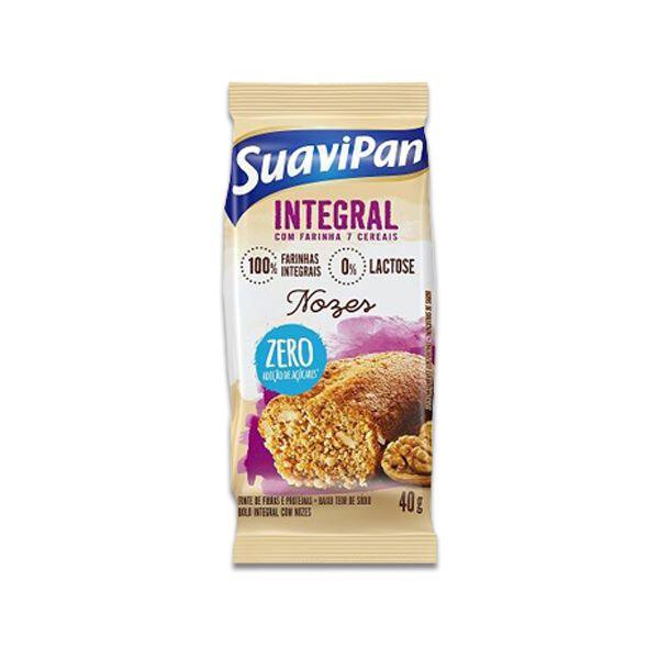 Bolinho Integral Zero Açúcar Nozes Suavipan Unidade de Unidade de 40g
