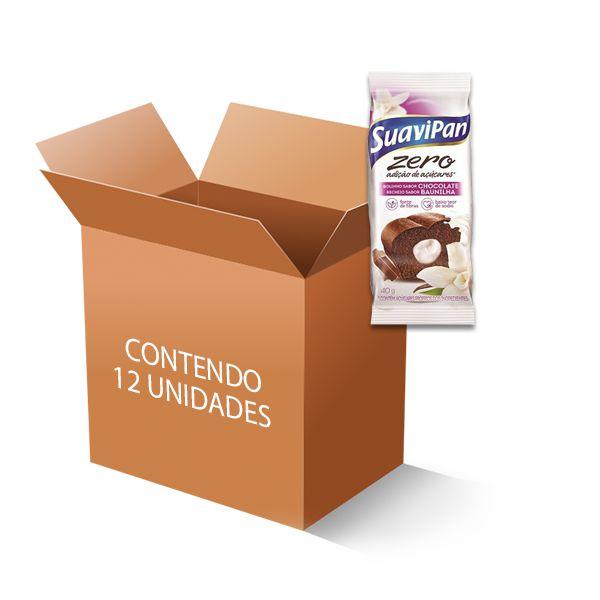 Bolinho Suavipan Zero Açúcar Chocolate Recheado Com Baunilha Contendo 12 Unidades De 40g Cada