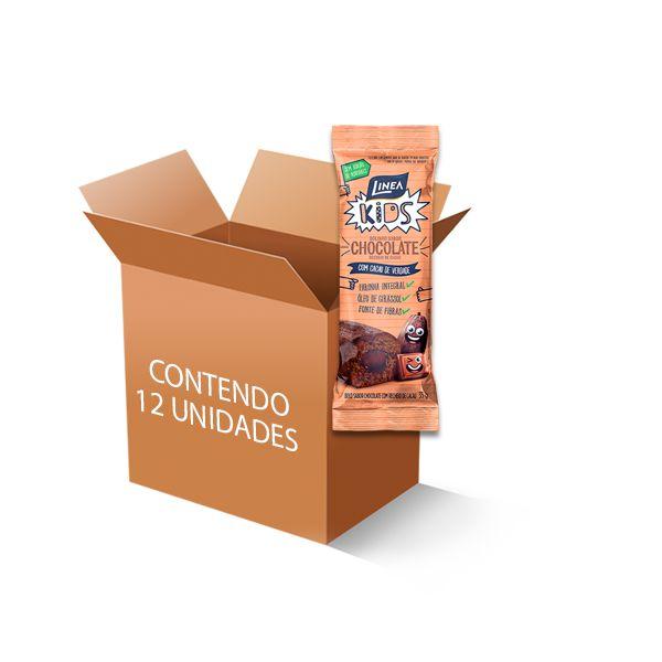 Bolinho  Zero Açúcar Chocolate recheado com Cacau Linea contendo 12 bolinho de 35g cada
