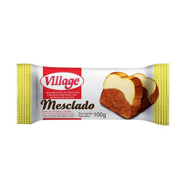 Bolo Sem Lactose Village Mesclado 100g