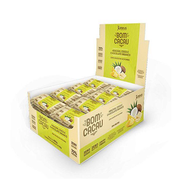 Bomcacau Abacaxi, Coco E Chocolate Branco Contendo 24 Unidades De 20g Cada