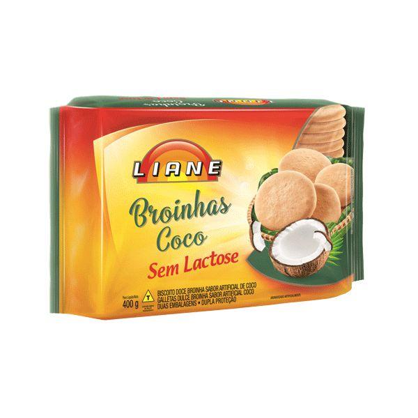 Broinhas De Coco Sem Lactose Liane 400g