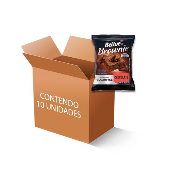 Brownie Belive Be Free Chocolate Contendo 10 Unidades De 40g Cada