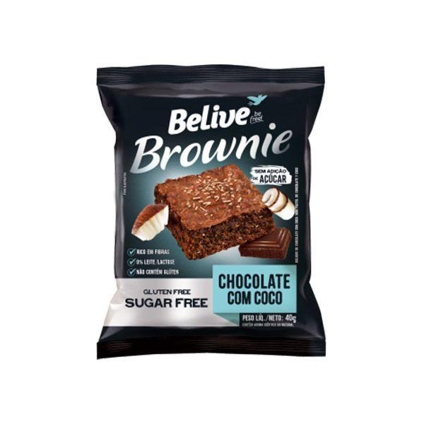 Brownie Zero Glúten, Açúcar E Lactose Belive Chocolate Com Coco Unidade