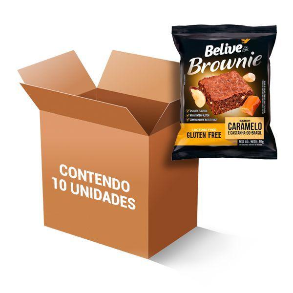 Brownie Zero Glúten, Zero Lactose Belive Caramelo E Castanha Do Brasil Contendo 10 Unidades