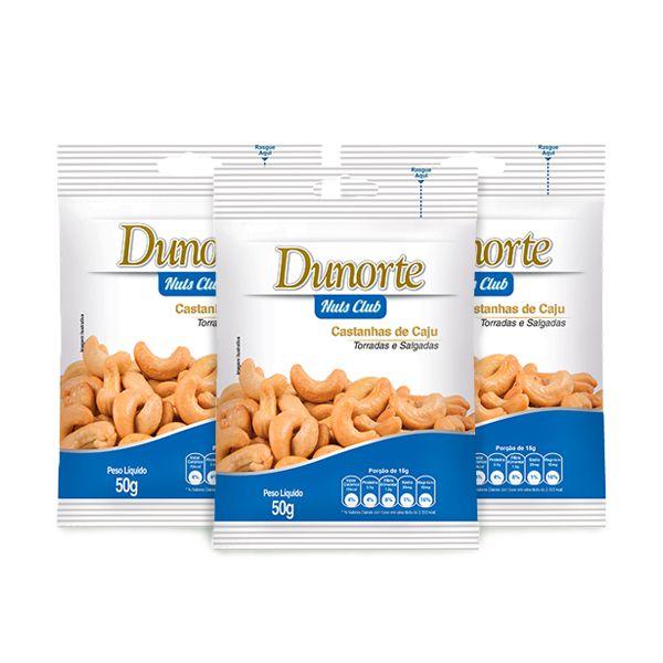 Castanha De Caju Dunorte Salgada 3 unidades