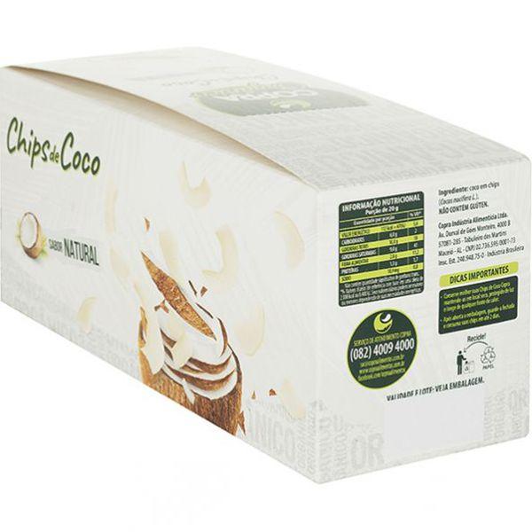 Chips De Coco Orgânico E Sem Açúcar Copra Contendo 10 Pacotes De 20g Cada