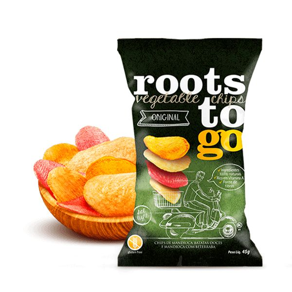 Chips De Mandioca e Batata Doce Roots To Go 45g