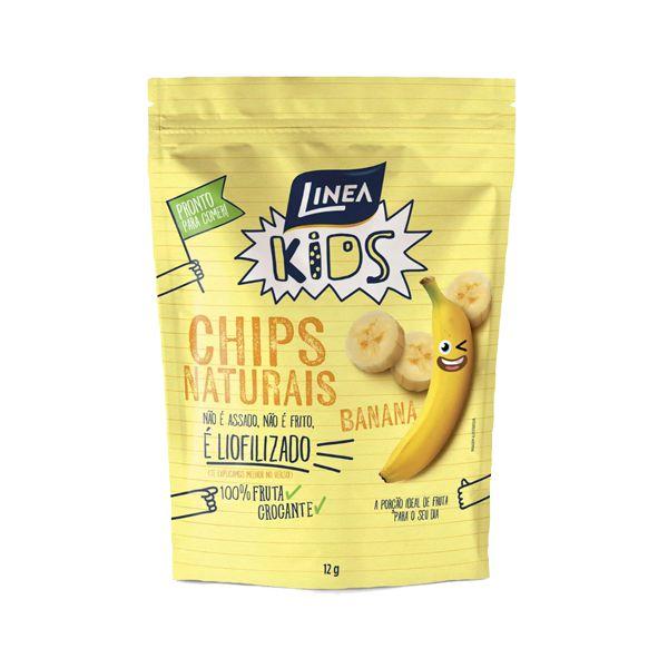 Chips Naturais Banana 100% Fruta Crocante Linea Unidade