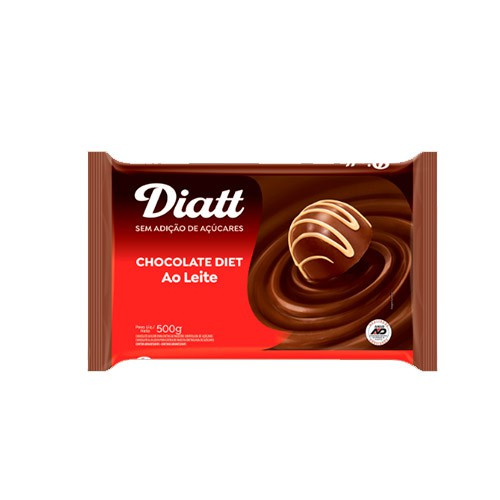 Chocolate Ao Leite Diet Diatt 500g