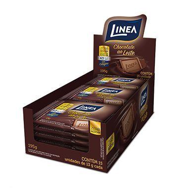 Chocolate Ao Leite Diet Linea 15 Un De 13g Cada
