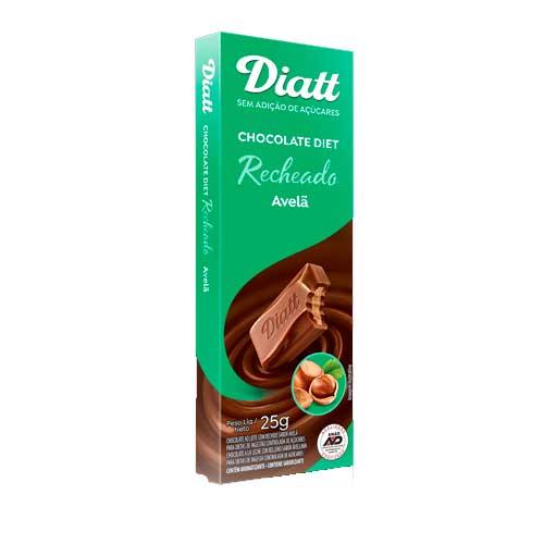CHOCOLATE DIET RECHEADO COM AVELÃ  DIATT UNIDADE DE 25G