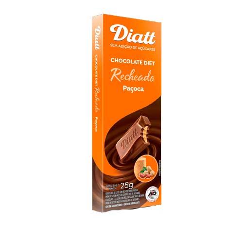 CHOCOLATE DIET RECHEADO COM PAÇOCA  DIATT UNIDADE DE 25G