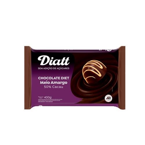 Chocolate Meio Amargo Diet Diatt 400g