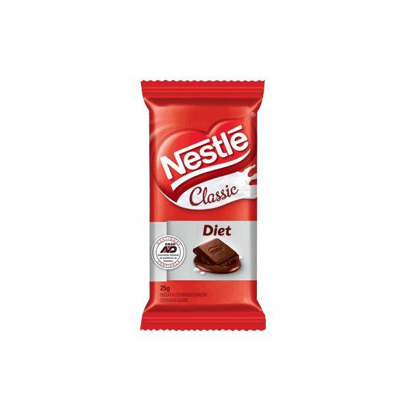 Chocolate Nestle Classic Diet Ao Leite UNIDADE 25g