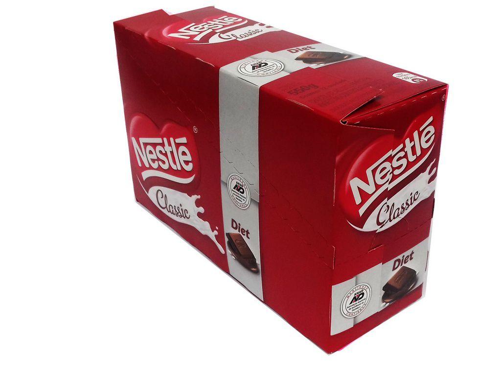 Chocolate ao Leite Diet Nestle Classic 22 Un de 25g Cada