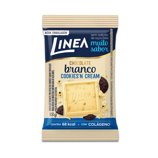 Chocolate Zero Açúcar Cookies´n Cream Linea UNIDADE de 13g