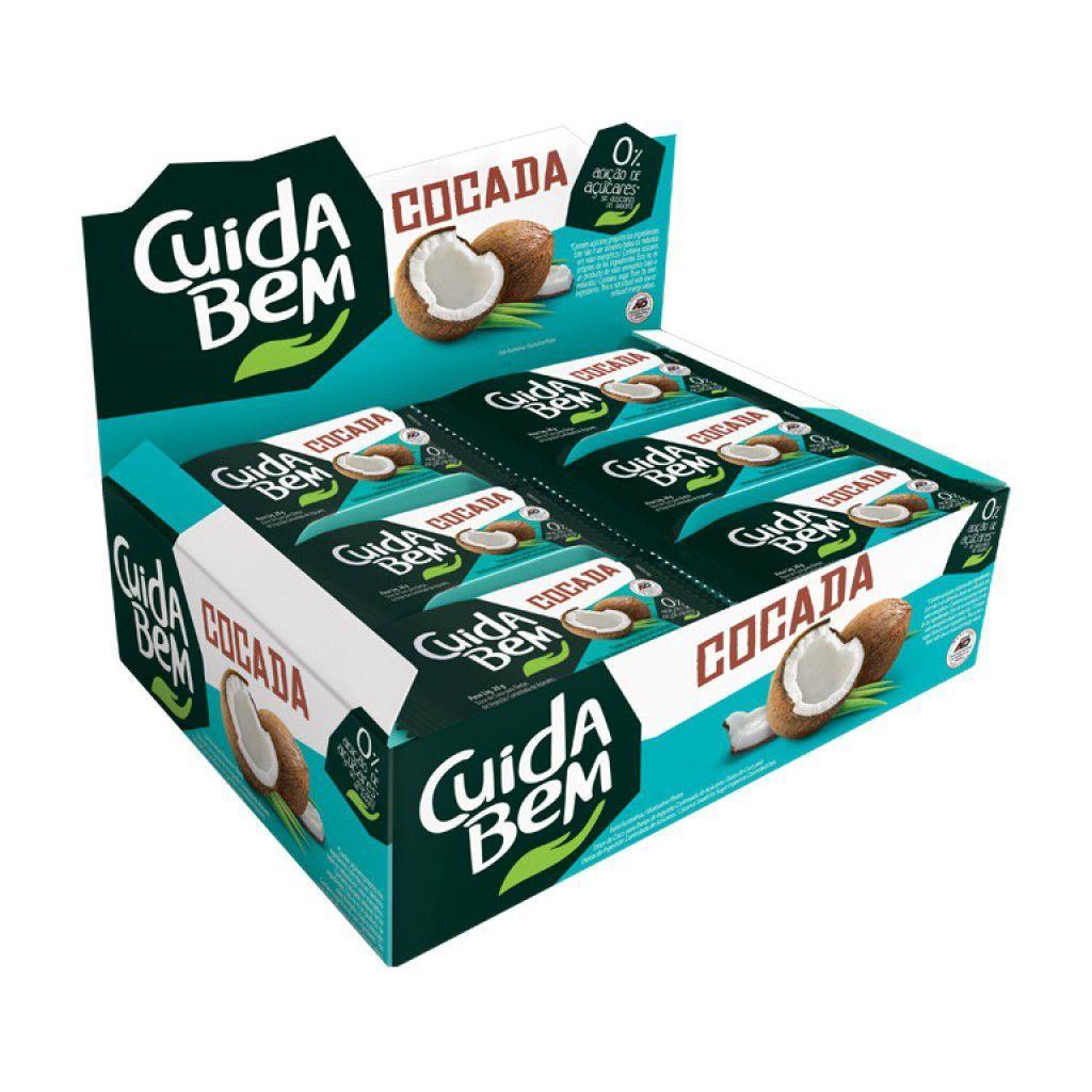 Cocada Zero Açúcar Cuida Bem 24 Un De 20g Cada