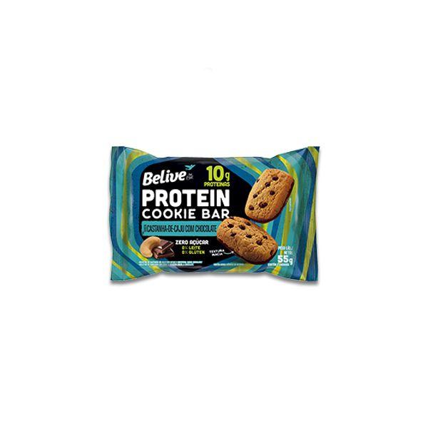 Cookie Bar Protein Castanha de Caju com Chocolate Zero Leite, Zero Açúcar Belive 55g