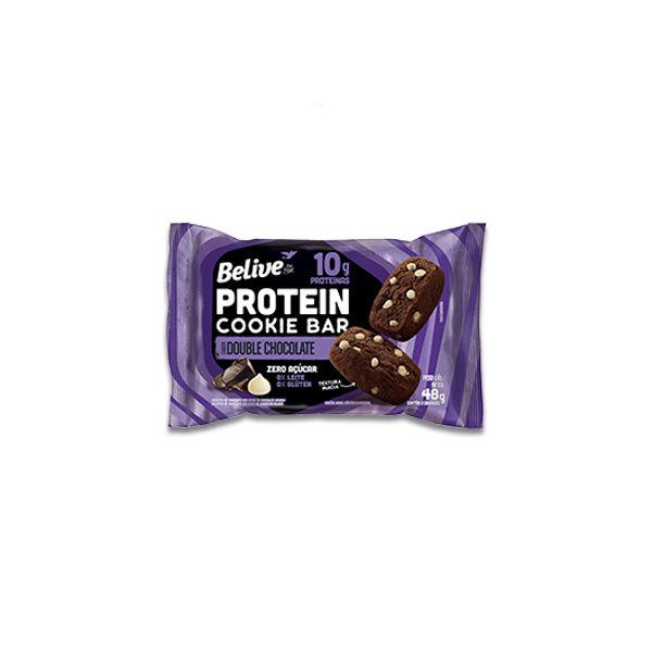 Cookies Bar Protein Double Chocolate Zero Leite, Zero Açúcar Belive 48g