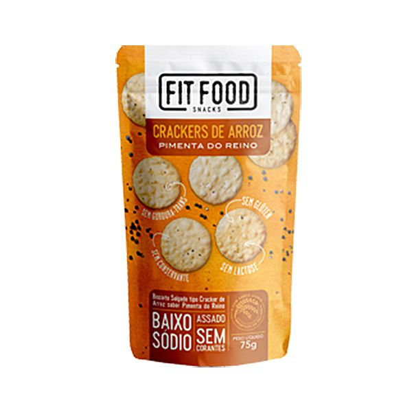 Crackers De Arroz Pimenta Do Reino Fitfood 75g